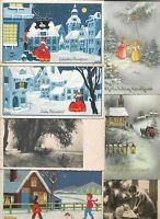 New Year Theme With Kids And More Postcard Lot of 20 01.12