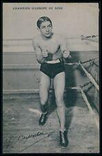 Carpentier France Europe champion boxer Boxing Sports original 1912 postcard