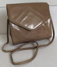 Vintage RAVNE Leather Cross Body Bag Nude