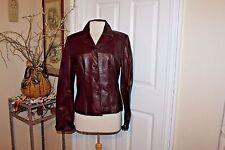 NWT NEW CACHE WINE COLOR LEATHER SOFT JACKET SIZE 10, ~NEW NEVER WORN~ STUNNING!