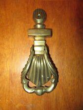 """Vintage Solid Brass Sea Shell Door Knocker 7"""" tall"""