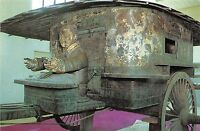 BG21041 bronze chariot china art sculpture postcard