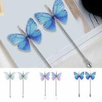 Women Charm Butterfly Earring Dangle Drop Hook Long Chain Earrings Jewelry Gift