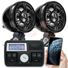 Amplificador de Audio Bluetooth Motocicleta Manillar Sistema De Altavoces Estéreo MP3 USB/SD