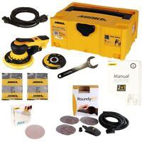 Exzenterschleifer Mirka DEROS 5650CV Set + 50 Abranet Sch., Case & Roundy-Kit Gr