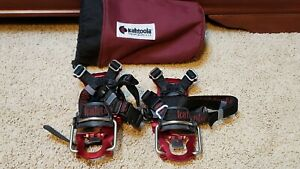 Kahtoola KTS Steel Hiking Crampons with Nylon Carry Pouch LeafSpring Sz Small