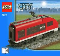 LEGO 7938-4 Rear Passenger Carriage SPLIT From 7938 Passenger Train Set NEW