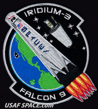 NEW Iridium-3 - SPACEX ORIGINAL FALCON 9 F-9 VAFB Launch SATELLITE Mission PATCH