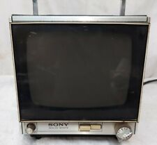 VINTAGE SONY TELEVISION 1960'S SOLID STATE TV 9-90UB BLACK & WHITE PORTABLE TV