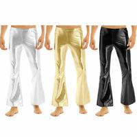 70's Retro Men Costume Bell Bottom Disco Pants Flared Hippy Trousers Fancy Dress