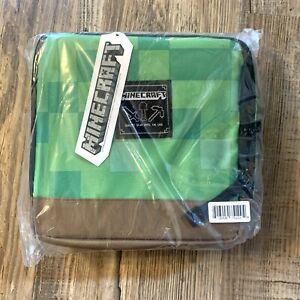 NEW JINX Minecraft Creeper Block Insulated Kids School Lunch Bag Box