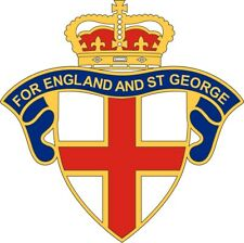 "ENGLAND CAR STICKER DECAL ""ENGLAND AND ST GEORGE"" - also for laptops,tablets etc"