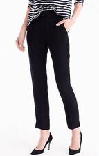 NEW JCREW $89.50 New easy pant in matte crepe Size2 In Black G7462
