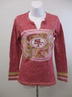 New San Francisco 49ers Womens Size S-M-L Majestic Red Long Sleeve Shirt $40