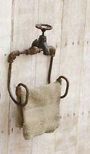 Vintage Rustic Faucet Toilet Paper Towel Holder Country Ranch Farmhouse Decor