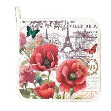 Michel Design Works Cotton Kitchen Potholder Toujours Paris Eiffel Tower Poppies