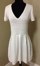 FRENCH CONNECTION Grace Knit Flared Dress Winter White Size 8 $148 71BGD