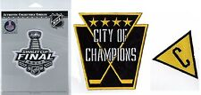 "PITTSBURGH PENGUINS STANLEY CUP FINAL 2017 PATCH & ""CITY OF CHAMPIONS"" SET OF 3"