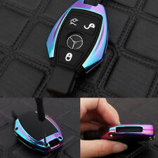 Multi-color Key Fob Cover Case Metal For Mercedes Benz CLA CLS CLK GLK GLA GLC