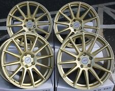 "18"" GOLD 02 ALLOY WHEELS FOR SUBARU FORESTER IMPREZA LEGACY BRZ OUTBACK 5X100"