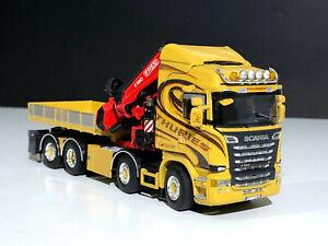"Scania streamline highline 8x2 fassi 1100 crane""Thuries""WSI truck models 01-2332"