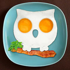 Silicone Fried Egg Mould Pancake Owl Egg Ring Shaper Mold Kitchen Cooking Tools