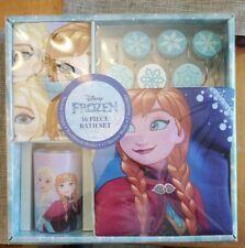 Disney Frozen Anna & Elsa 16Pc Bathroom Set Shower Curtain, Hooks Towels & More