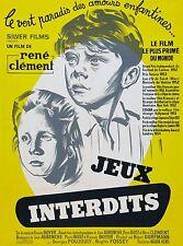 Affiche 60x80cm JEUX INTERDITS (1952) René Clément - Brigitte Fossey RESSORTIE