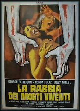 manifesto 4FG  LA RABBIA DEI MORTI VIVENTI PATTERSON FULTZ MILLS HORROR SEXY