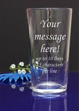 Personalised Engraved Pint Glass, birthday, christmas gifts, wedding 54