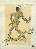 709 -) disegno originale pubblicitario eugenio colmo golia arlecchino evoluzione