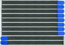 10 x Klettkabelbinder 80cm x 50mm neon-rot Klettbänder Kabelklettband Metallöse
