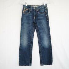Ariat B5 Slim Boy's Adjustable Waist Denim Blue Jeans Size 10