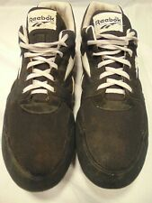 Vintage Mens Black/White Reebok Track Cleats Spikes Shoes Size 13 EUC
