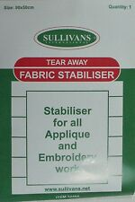Tear Away Fabric Stabiliser 90cm X 50cm