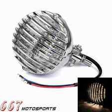 Scalloped Headlight Finned Grill Polish For Chopper Bobber Cafe Racer Custom New