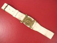 Victorian Era British Army Leather Dress Belt w/Dieu et Mon Droit Buckle - 1893