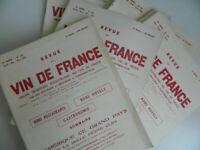 Lote 14 Revistas de La Vino de France Raymond Baudoin 1953-1959