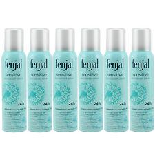 fenjal sensitive Deo Spray Deodorant für empfindliche Haut 0% Alkohol 6 x 150 ml