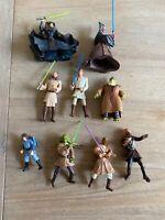 Star Wars Action Figure Lot Hasbro 1998/2002 Obi-Wan Lightsaber