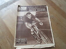JOURNAL MIROIR DES SPORTS BUT CLUB 705 1 septembre 1958 ercole baldini