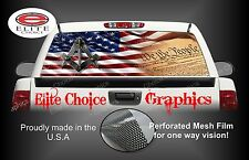 Free Mason American Flag Rear Window Graphic Decal Sticker Truck Van Car SUV