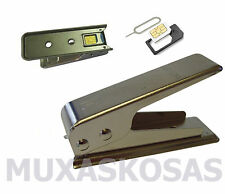 CORTADORA DE TARJETAS SIM A MICROSIM + ADAPTADOR MICROSIM A SIM + PINCHO IPHONE