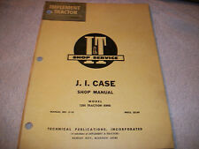 Original J I Case I & T Shop Service Manual 1200 Traction King Tractor