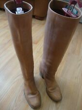 CATLEIA TAN LEATHER WOMEN BOOTS 6.5B MADE IN BRAZIL
