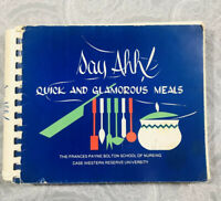 Say Ahh Quick & Glamours Meals Cookbook Recipes Book Spiral Case Western Nursing
