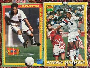 SI Sports Illustrated For Kids POSTER LOT x 2 SOCCER Desmond Armstrong Harkes