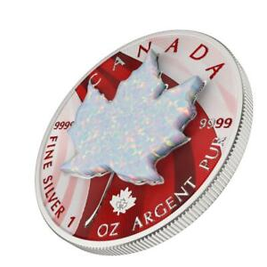 Canada 2020 5$ Maple Leaf - Space & White Opal - 1 Oz Silbermünze