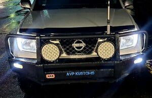 4x4 Nissan Navara D40 Pathfinder x2 Pure White LED Front Parker Light Bulbs