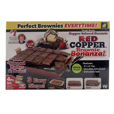 Red Copper Non Stick Copper Infused Brownie Maker